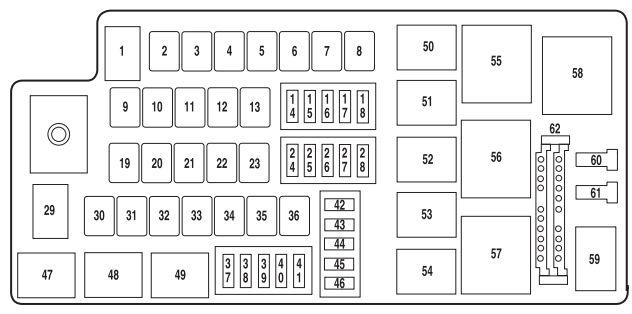 2007 Mercury Milan Fuse Box Diagram