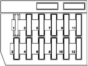 Mercedes-Benz E-Class w210 - fuse box diagram - on light module (right-hand steering)