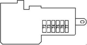 Mercedes-Benz E-Class w211 - fuse box diagram - front prefuse box (rear view)