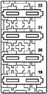 Mercedes-Benz E-Class w212 - fuse box diagram - AdBlue fuse block