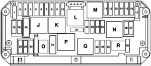 Mercedes-Benz E-Class w212 - fuse box diagram - engine compartment