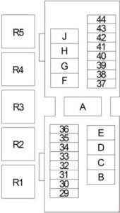 Nissan Frontier - fuse box diagram - engine compartment