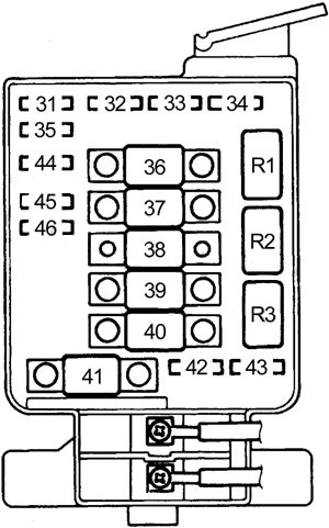 Honda Civic (1992 - 1995) - fuse box diagram - CARKNOWLEDGE