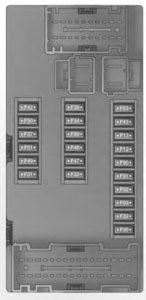 RAM ProMaster - fuse box-interior fuse panel