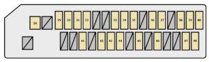 Scion tC mk1 - fuse box - instrument panel