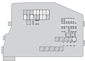 Scion tC mk2 - fuse box - engine compartment