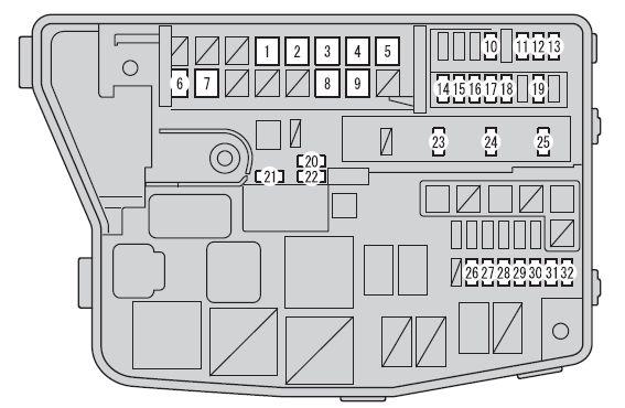 Scion xB (2012 - 2016) - fuse box diagram - Carknowledge.infoCarknowledge.info