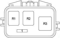 Scion xB - fuse box diagram - additional relay box