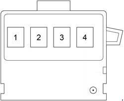 Scion xB - fuse box diagram - fusible link block