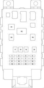 Scion xB - fuse box diagram - passenger compartment fuse box