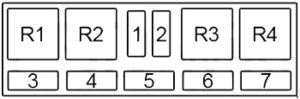 Audi A8 - fuse box diagram - passenger compartment relay box no. 3