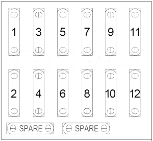 Chrysler Crossfire - fuse box diagram - passenger compartment