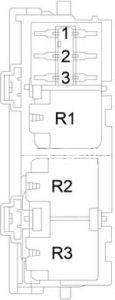 Dodge Charger - fuse box diagram - relay box (diesel)