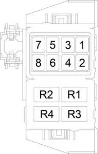 Dodge Magnum - fuse box diagram - relay box (police)