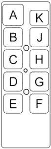 Dodge Monaco -fuse box diagram - passenger relay box