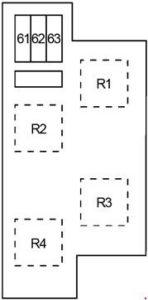 Infiniti EX35 - fuse box diagram - engine compartment box 3