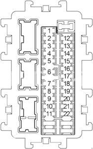 Infiniti EX35 - fuse box diagram - passenger compartment