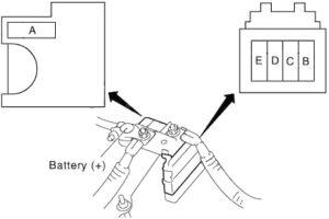 Infiniti EX37 - fuse box diagram - fusible link block