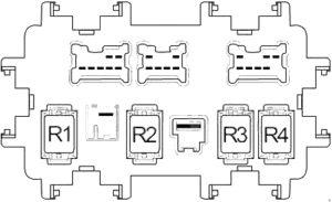 Infiniti EX37 - fuse box diagram - passenger compartment