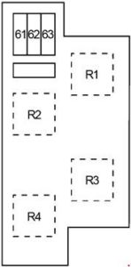 Infiniti QX50 - fuse box diagram - engine compartment box 3