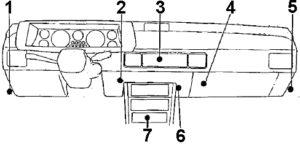 Plymouth Conquest - 1983 - 1989 - fuse box diagram - relay location