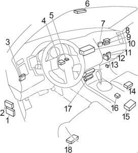 Infiniti FX45 - fuse box diagram - passenger compartment