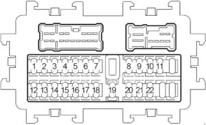 Infiniti FX45 - fuse box diagram - passenger compartment fuse box